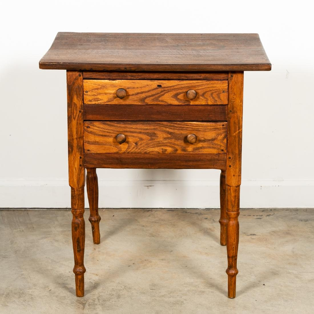 Early American Country Oak SideTable