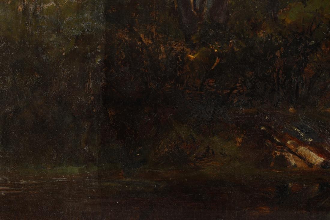 19th C. American School Oil Landscape, Duck Pond - 5