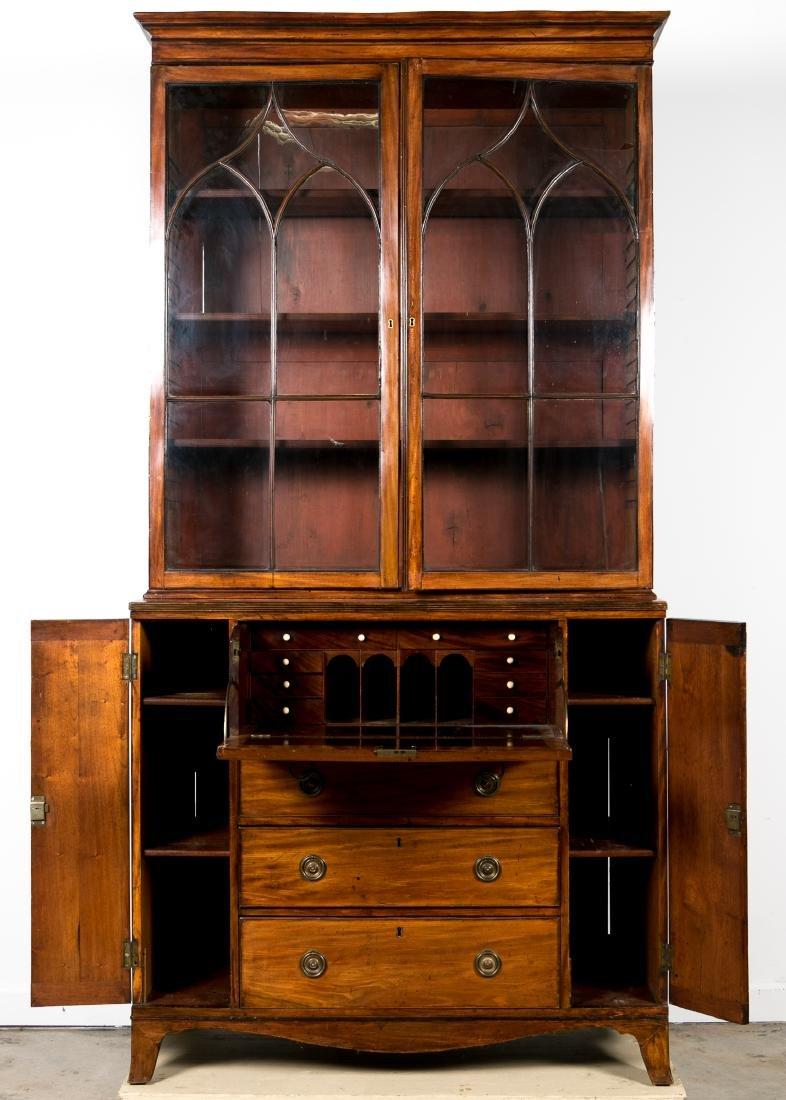 19th C. George III Mahogany Secretary Bookcase - 3