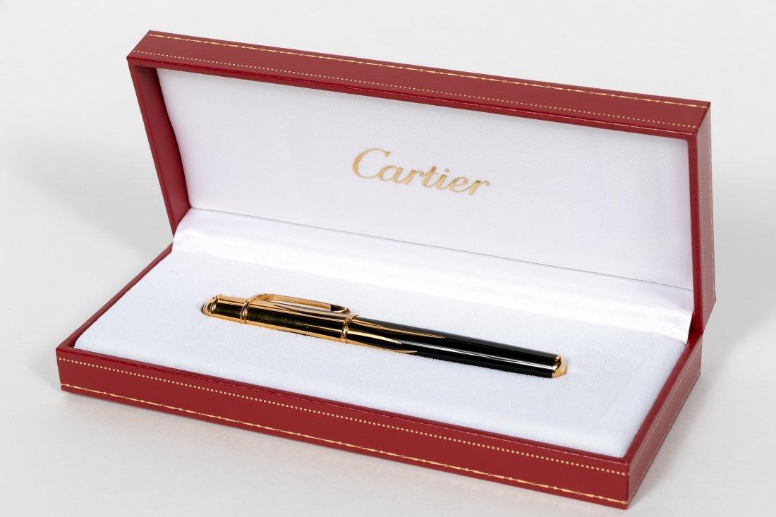 Mini Diabolo de Cartier Fountain Pen, Noir & Gold