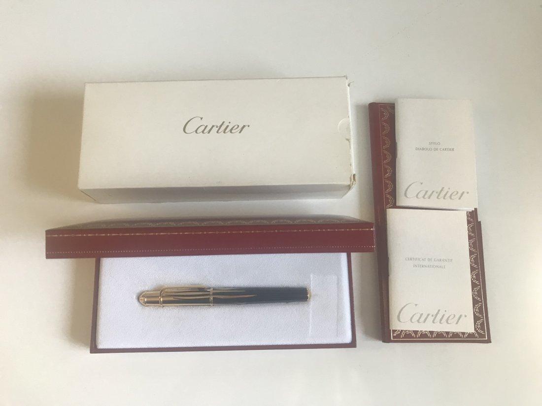 Mini Diabolo de Cartier Fountain Pen, Noir & Gold - 4