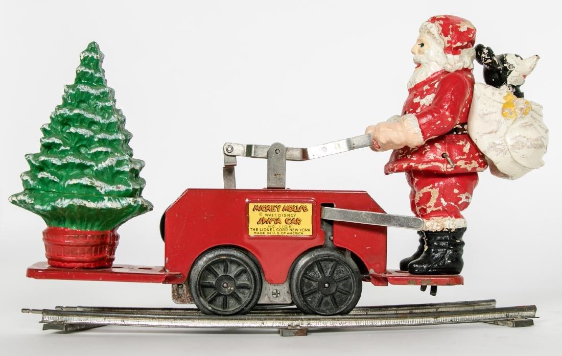 Lionel Mickey Mouse Santa Handcar #1105, pressed