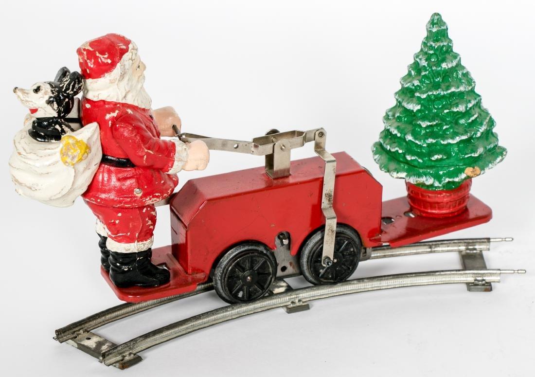 Lionel Mickey Mouse Santa Handcar #1105, pressed - 2