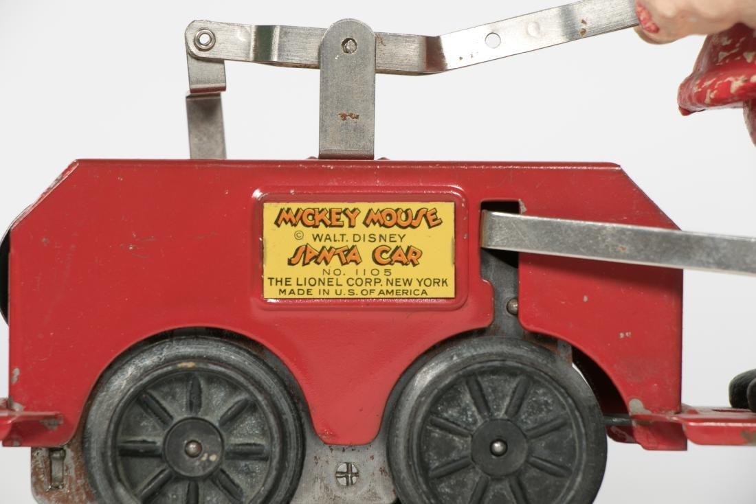 Lionel Mickey Mouse Santa Handcar #1105, pressed - 3