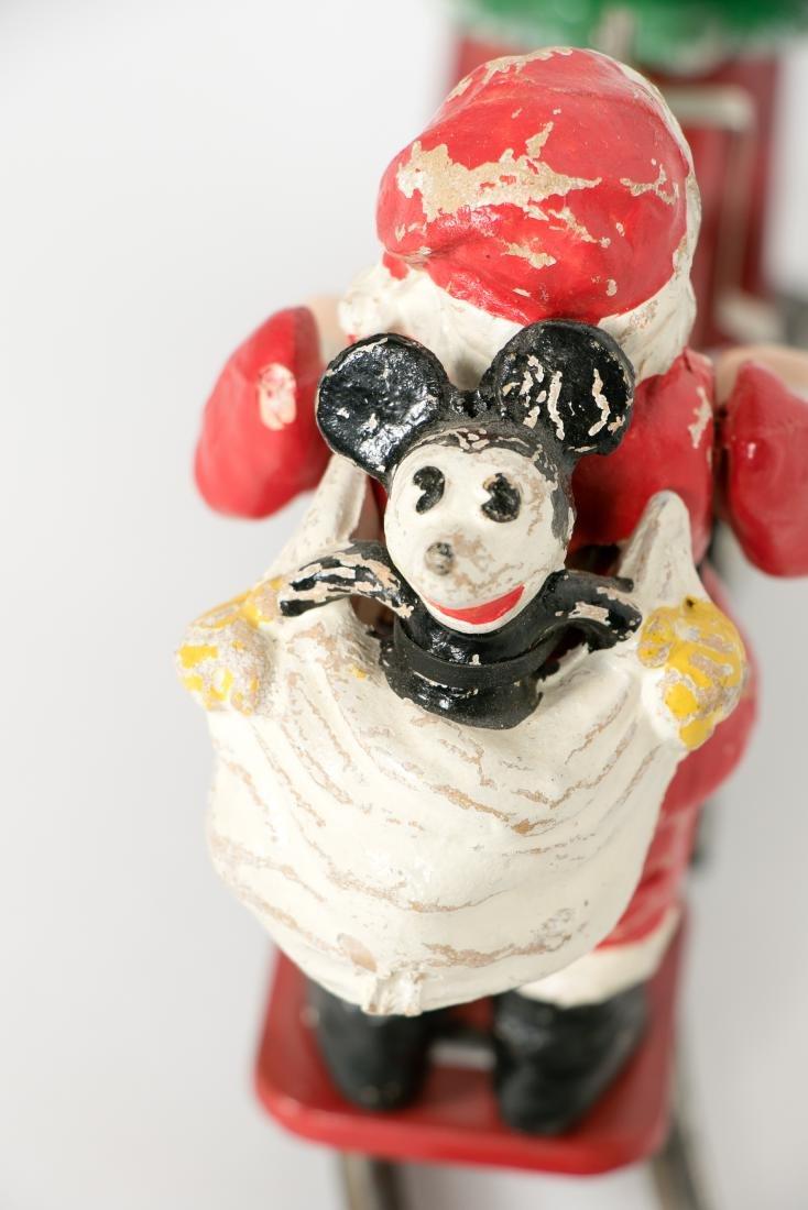 Lionel Mickey Mouse Santa Handcar #1105, pressed - 4