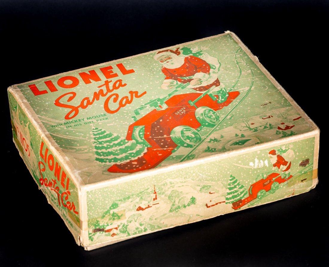 Lionel Mickey Mouse Santa Handcar #1105, pressed - 6