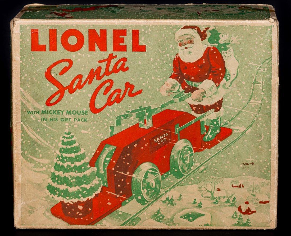 Lionel Mickey Mouse Santa Handcar #1105, pressed - 7