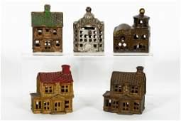 5 Building Cast Iron Banks, Victorian Houses