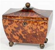 English Regency Tea Caddy