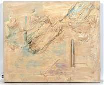 George Hofmann Large Mixed Media Abstract Canvas