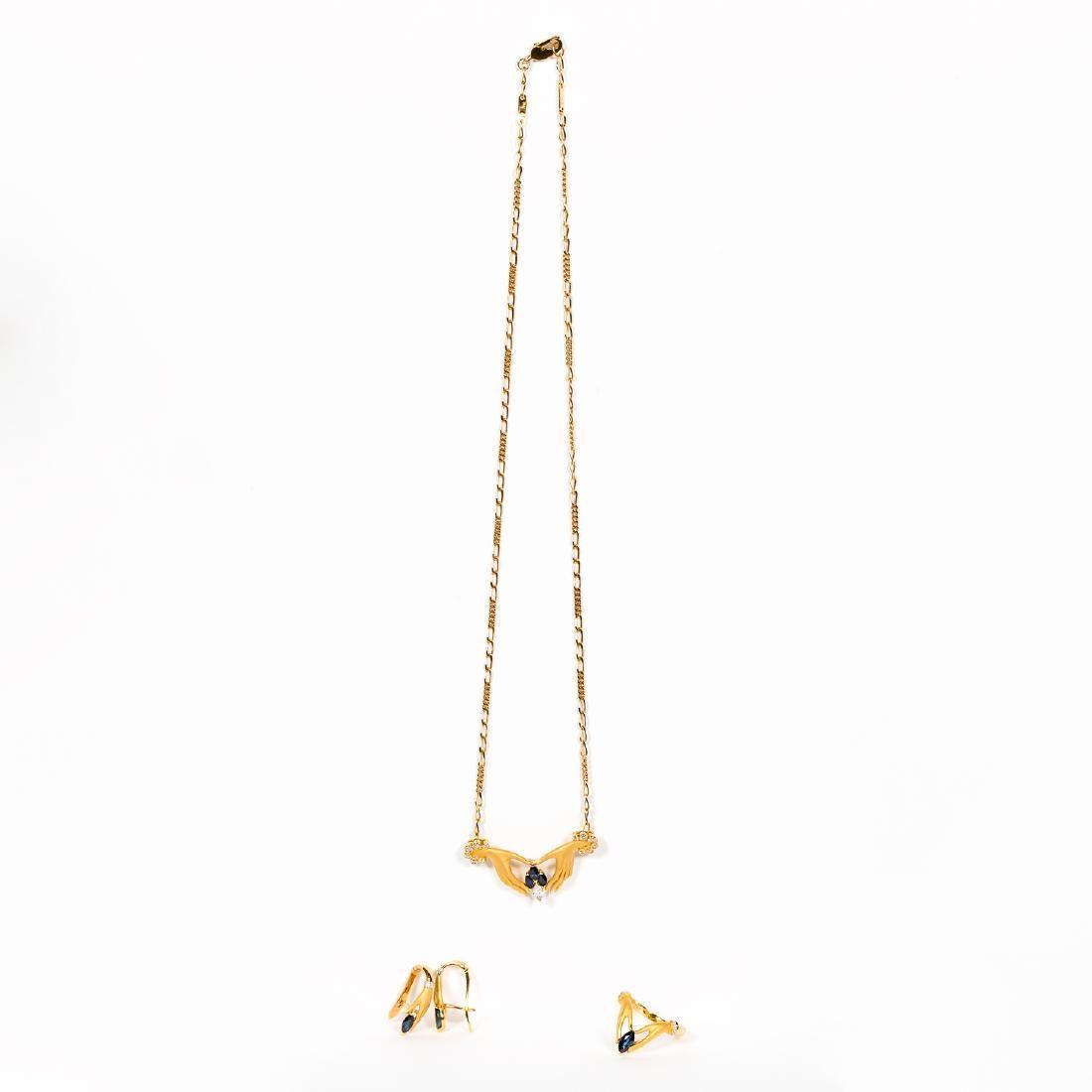 Carerra Y Carrera 18K Gold Hand Motif Jewelry Set