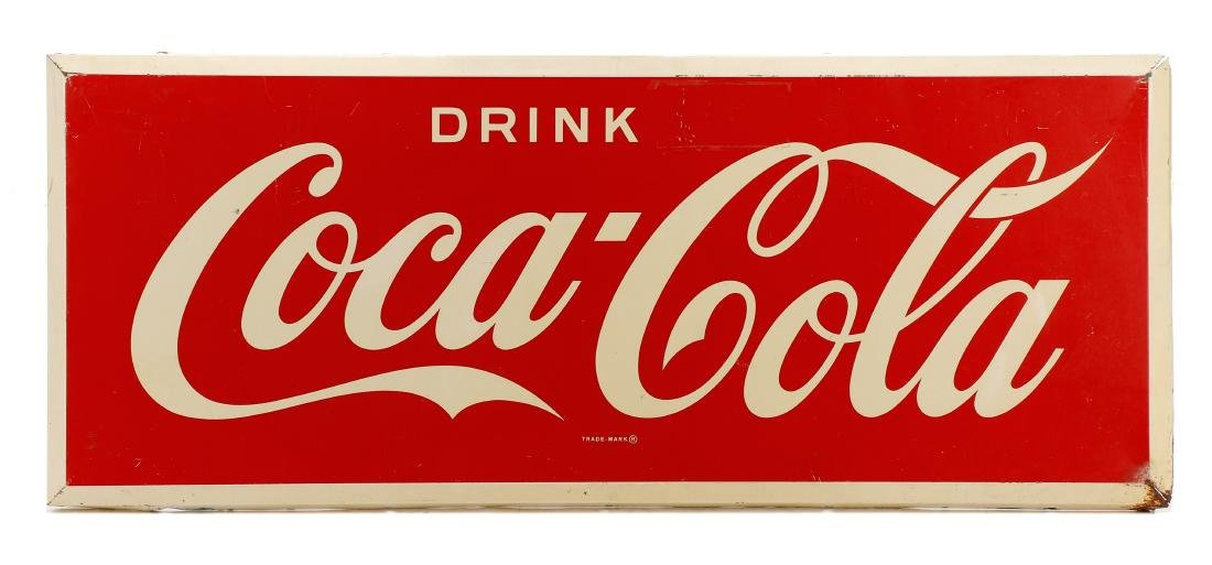 Vintage Coca-Cola Painted Sign, 2' x 5'