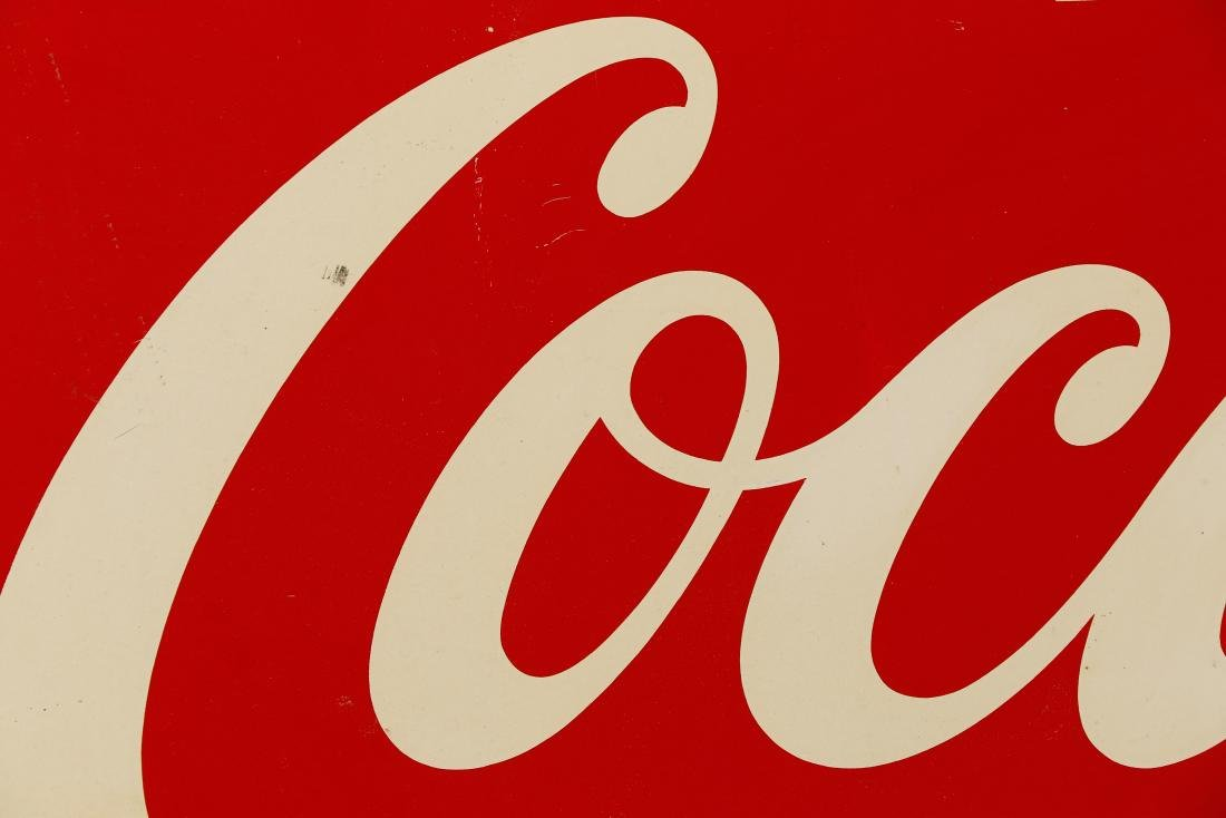 Vintage Coca-Cola Painted Sign, 2' x 5' - 3