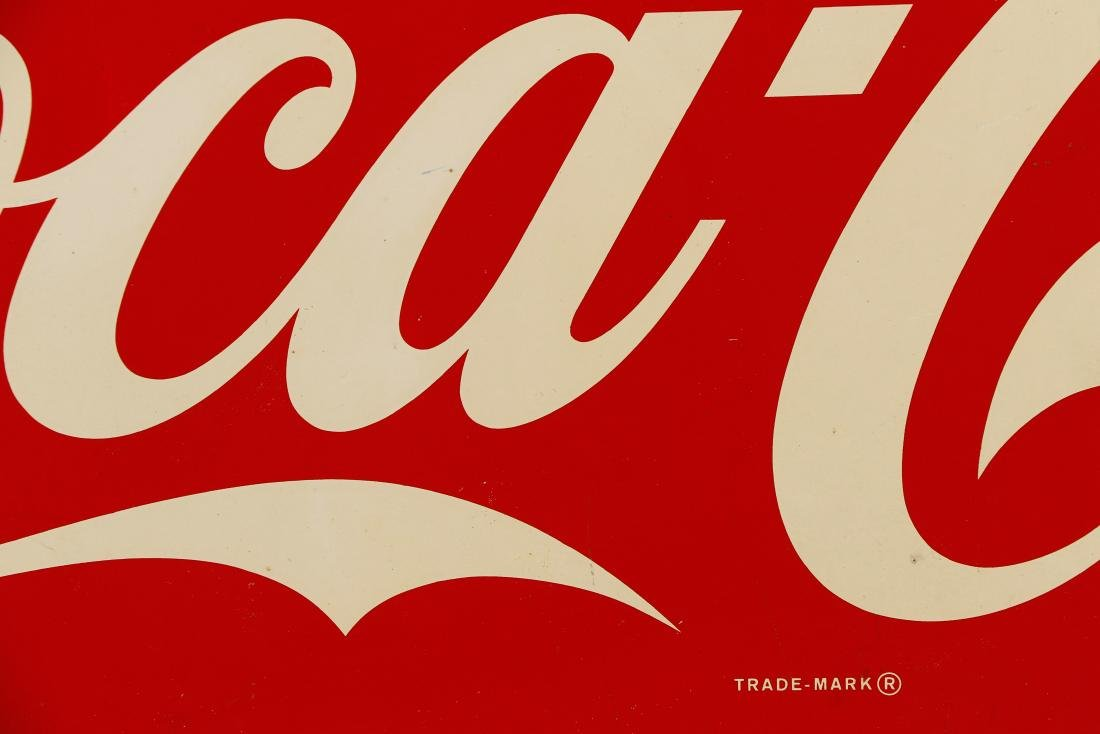 Vintage Coca-Cola Painted Sign, 2' x 5' - 4