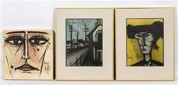 Three Bernard Buffet Items, 2 Prints & Album Set