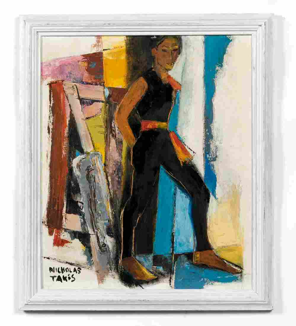 "Nicholas Takis ""Dancer Waiting in the Wings"", O/B"