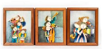 Three Joyce Roybal Small OC Figural Works