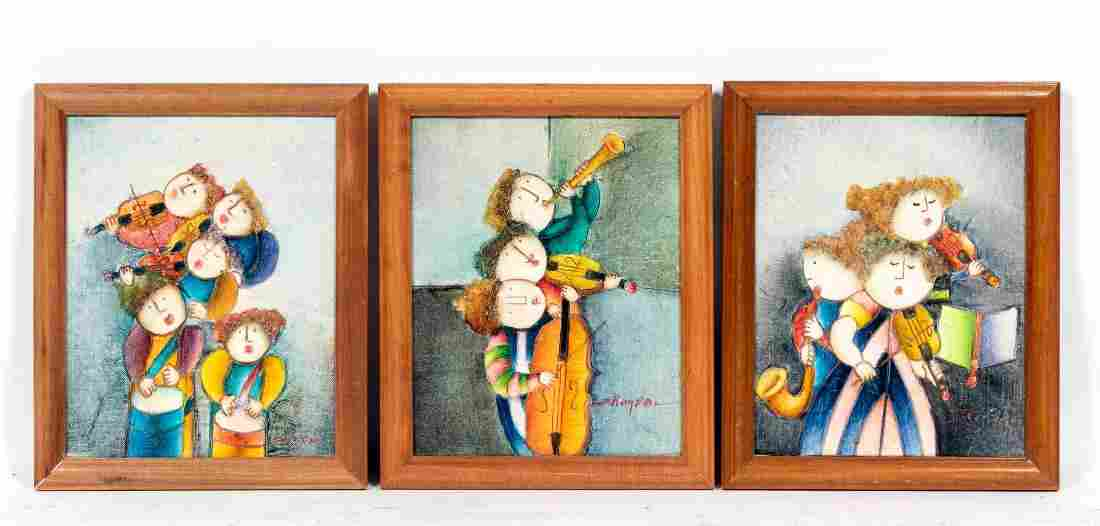 Three Joyce Roybal Small O/C Figural Works