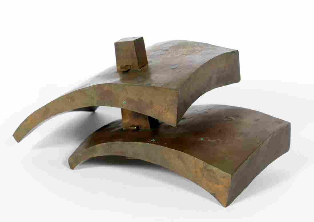 John Egner, Modernist Metal Sculpture, Signed