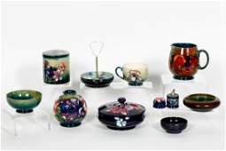 10 Pcs Moorcroft Pottery, Table Articles
