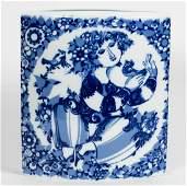 Wiinblad for Rosenthal Blue & White Large Vase