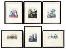 "Set, Six Framed ""Arte China"" Prints, Figural"