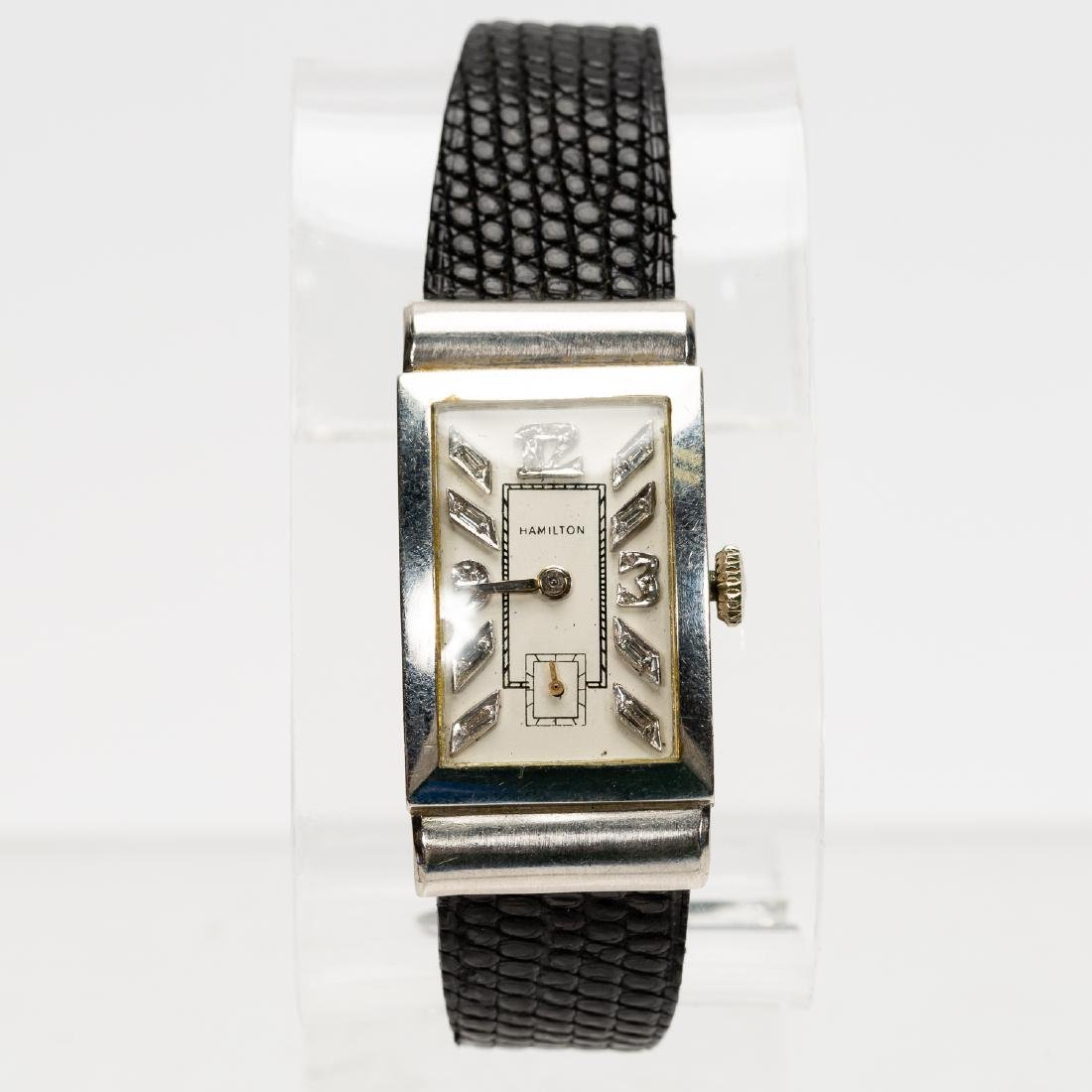 Hamilton Platinum & Diamond Wrist Watch