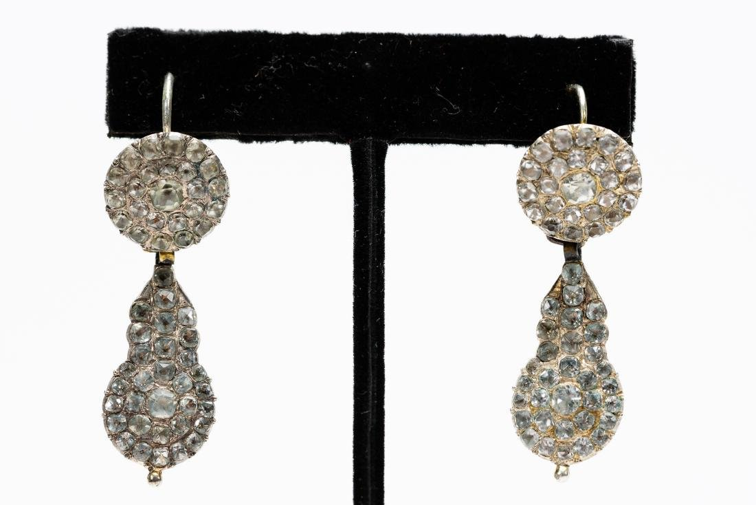 Pair, Georgian or Victorian Paste Earrings