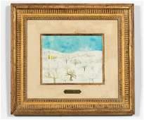 Henri Maik, Untitled Winter Landscape, 20th C.