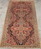 "Hand Woven Soumak Rug or Carpet, 9' 7"" x 5' 3"""