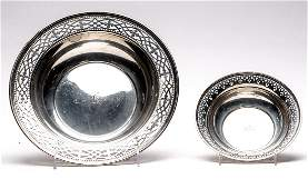 Two Tiffany & Co. Sterling Reticulated Dishes