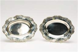 Pair Shreve  Co Sterling Serving Dishes