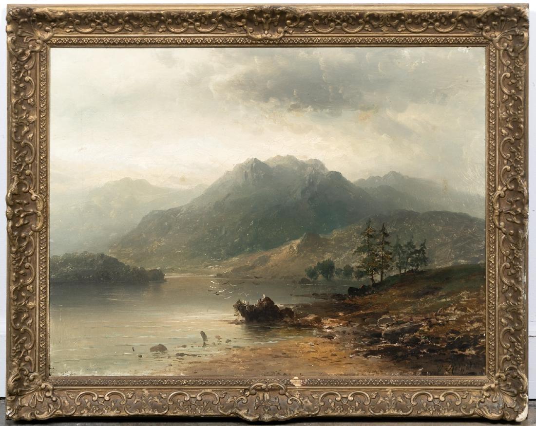 Victor Rolyat, British School Landscape Oil