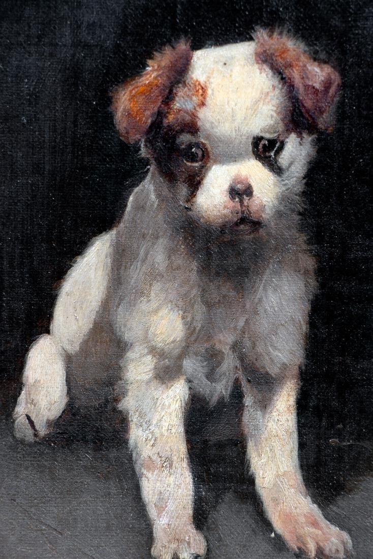 Scott Leighton, Signed Oil, Brown & White Puppy - 2