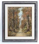 Atherton Furlong O/B Forest Landscape, Signed