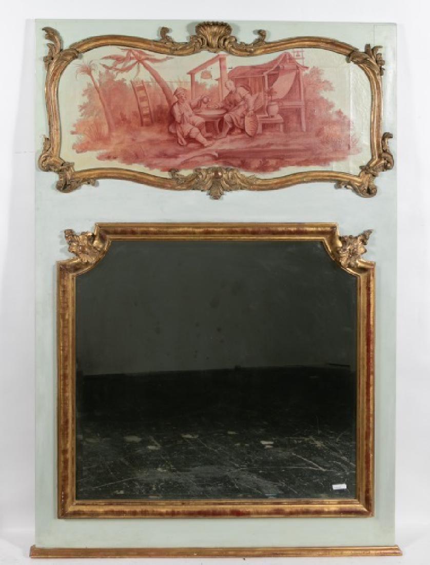 French Style Trumeau Mirror