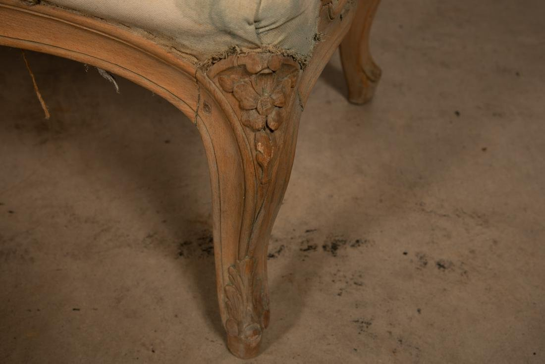 Louis XV Style Curved Walnut Settee - 5