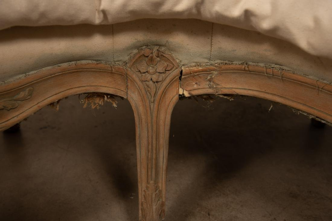 Louis XV Style Curved Walnut Settee - 6