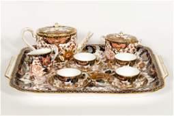 12 PC Royal Crown Derby Imari Porcelain Tea Set