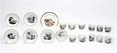 18 PC English Porcelain Set, Tea Wares