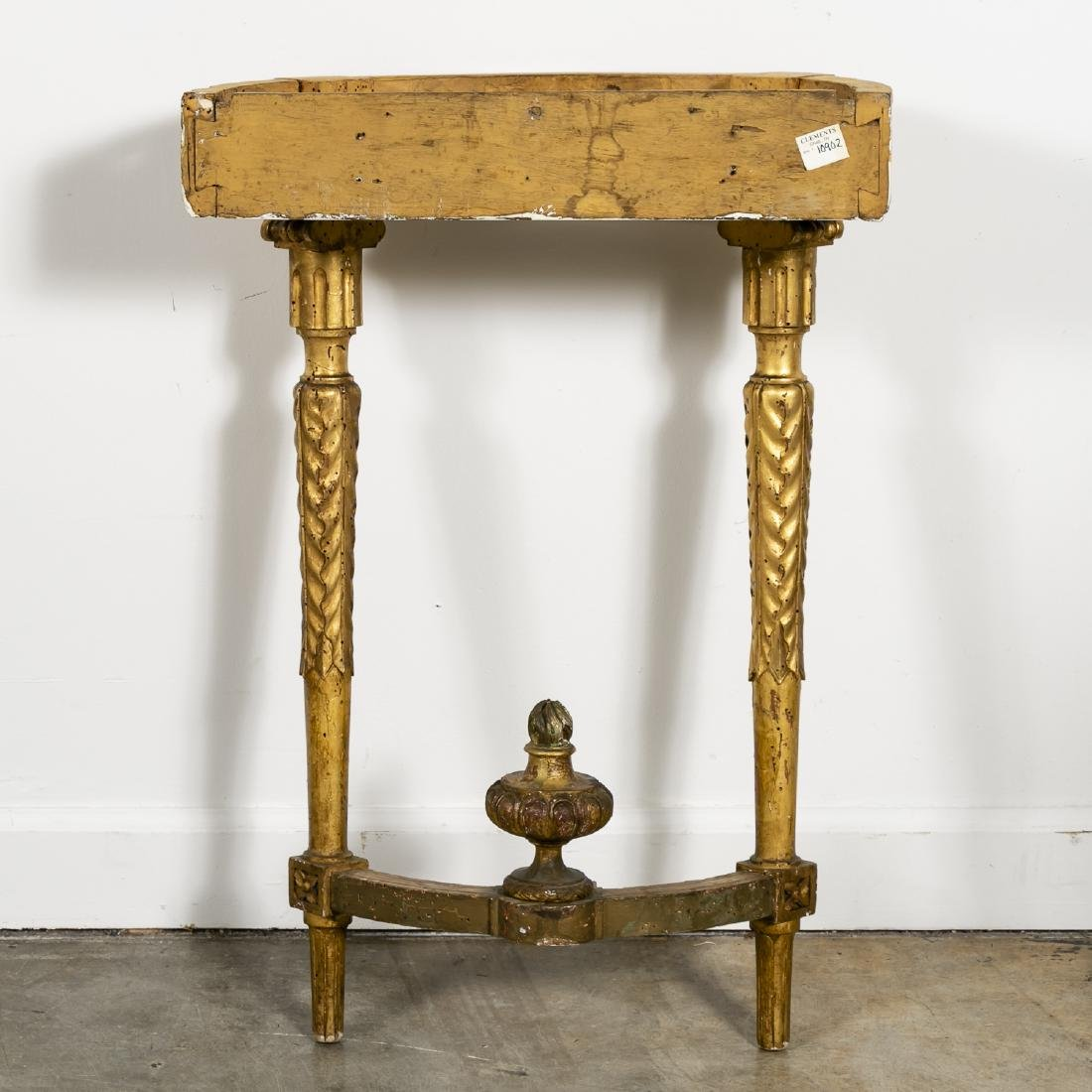 Small Marble Top French Gilt Wood Console - 2