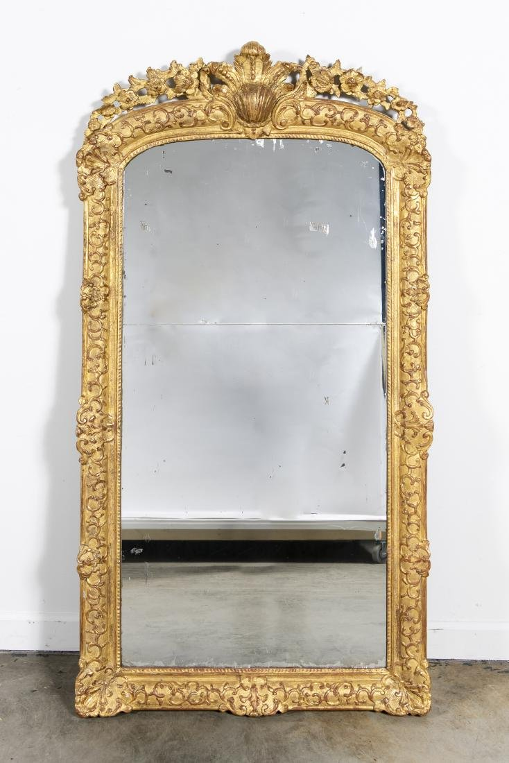 Louis XVI Style Carved and Giltwood Pier Mirror