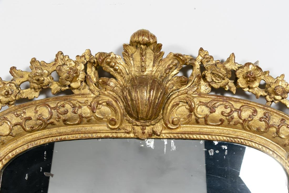 Louis XVI Style Carved and Giltwood Pier Mirror - 4