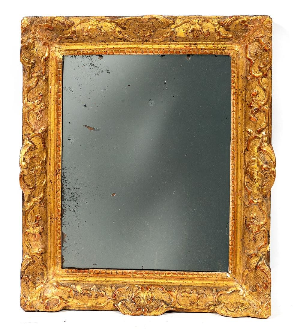 18th Century Louis XVI Gilt Wood Frame with Mirror