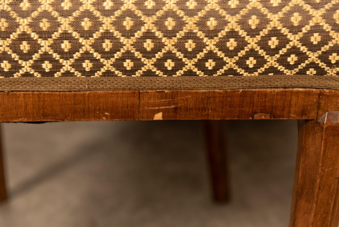 Two, Burled Walnut Continental Chairs - 5