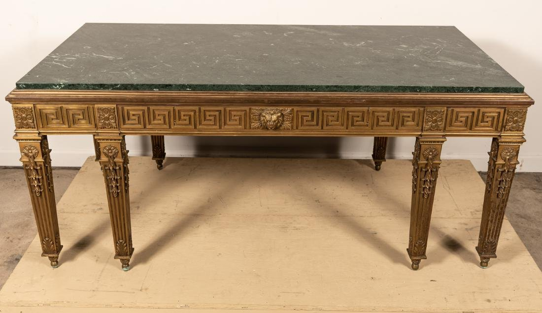 George II Style Marble Top Table, William Kent - 2