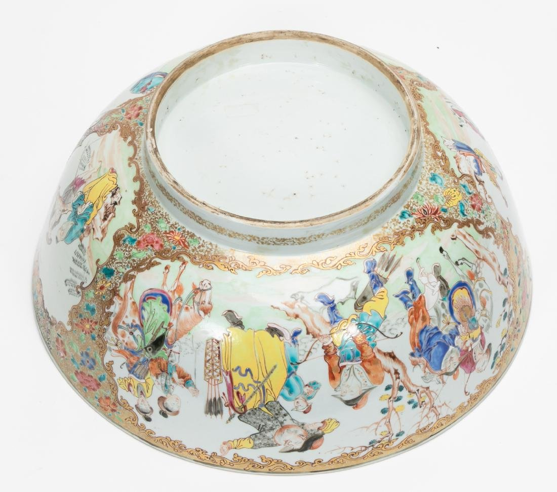 Chinese Export Famille Rose Porcelain Punch Bowl - 5