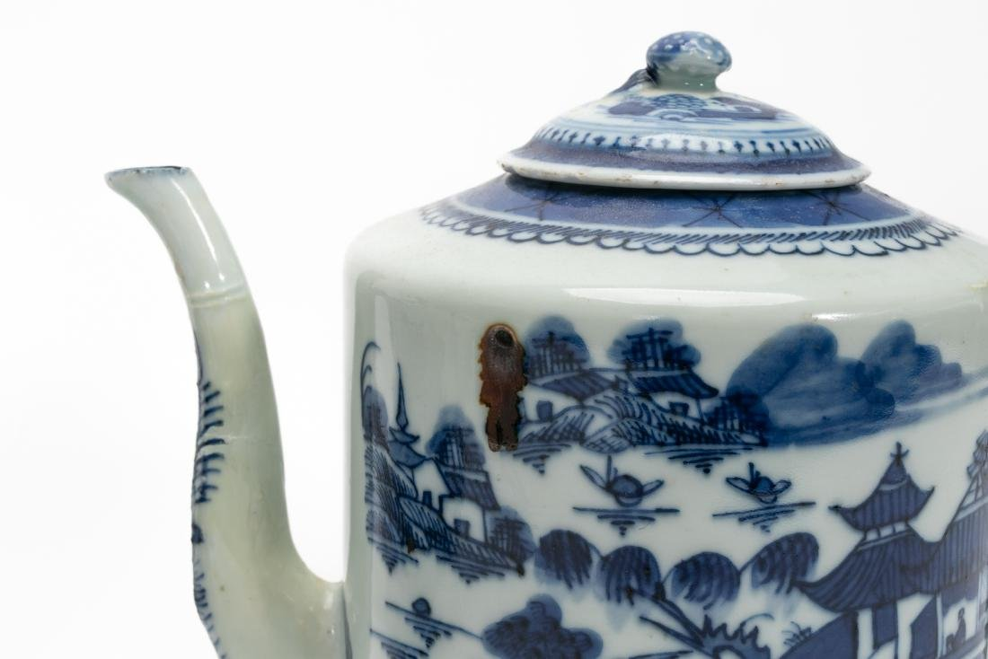 Chinese Blue & White Teapots Including Export 3PCS - 5