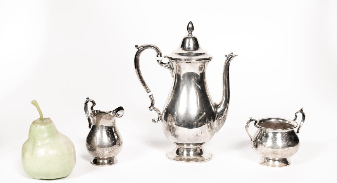 Fisher Three Piece Sterling Tea Set - 4