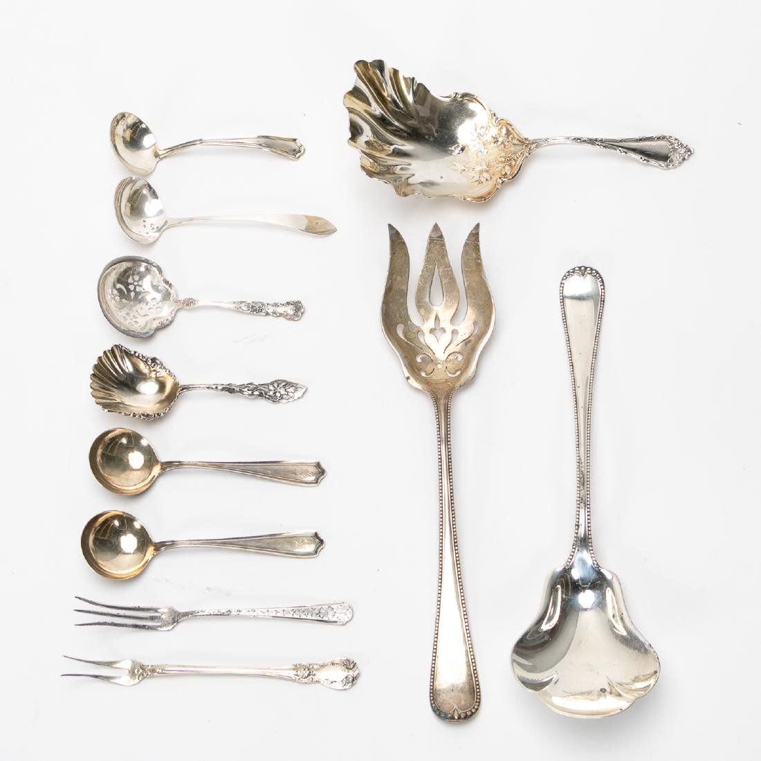11 PC American Sterling Flatware Grouping